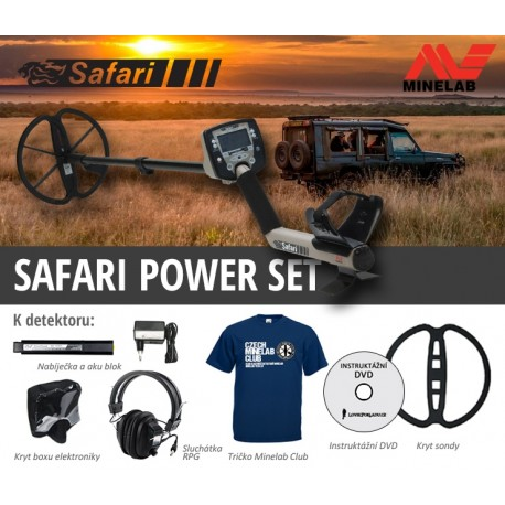 Detektor kovů Minelab Safari Power SET