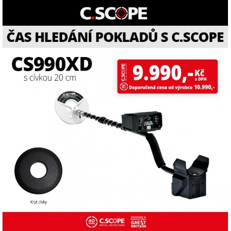 Detektor kovu C.Scope CS990XD