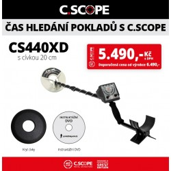 Detektor kovu C.Scope CS440XD
