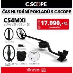 Detektor kovu C.Scope CS4MXi hloubkový set