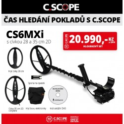 Detektor kovu C.Scope CS6MXi hloubkový set