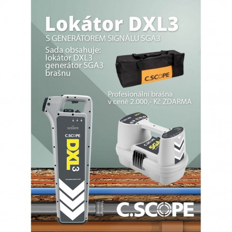 Detektor ing. sítí C.Scope DXL3 a generátor SGA3-set